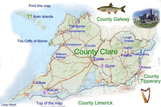 Map Of County Clare
