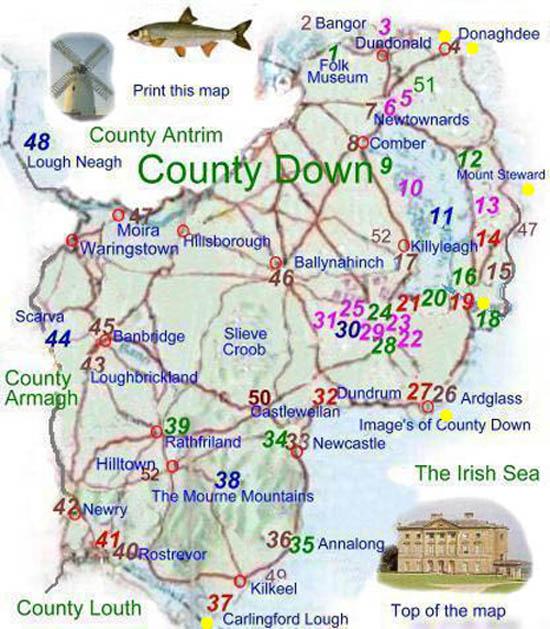 County Map of Northern Ireland Northern Ireland Map