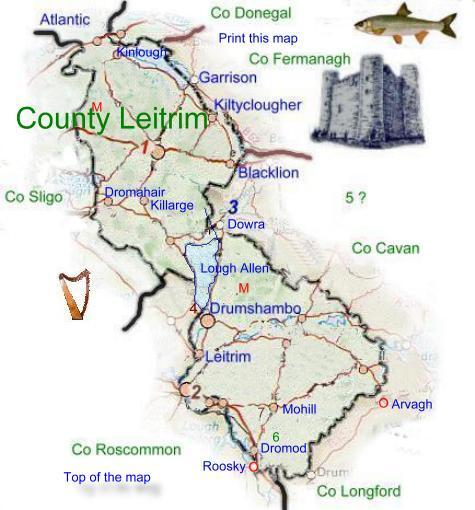 Map of County Leitrim.