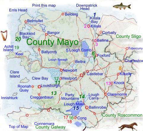 Map Of Ireland Knock.Map Of County Mayo
