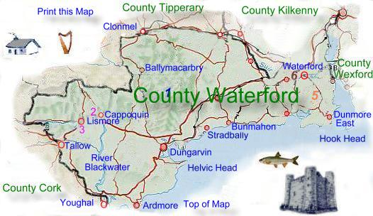 Map Of County Waterford